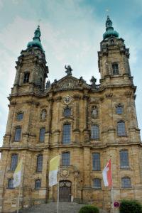 Vierzehnheiligen-Exkursion 2017, Fassade der Wallfahrtskirche