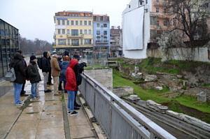 Stadtzentrum Plowdiw mit römischen Ausgrabungen