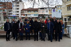Teamfoto in Sandanski