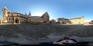 Bamberg,Domplatz_Panorama 360 Grad ausgeklappt